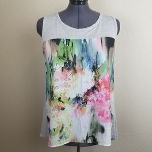 Bobeau Abstract Art Casual Sleeveless Top Size 1X